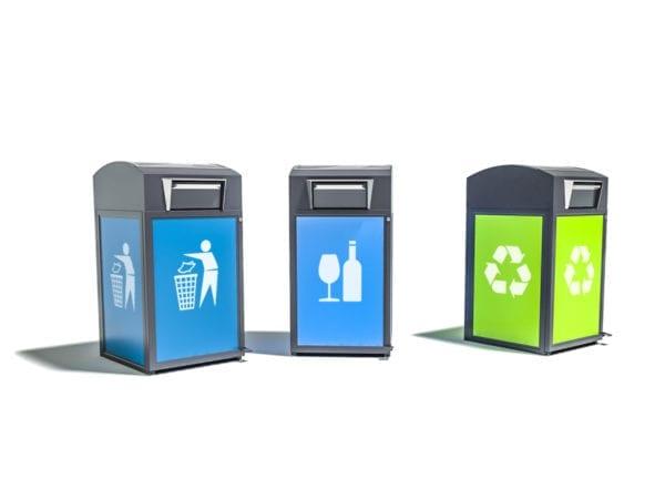 Finbin CitySolar - Smart avfallsbeholder, kildesortering