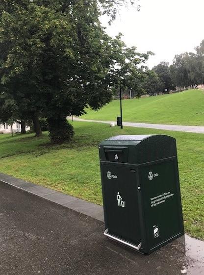 Finbin CitySolar - Smart avfallsbeholder, park
