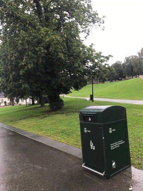 Finbin CitySolar - Smart avfallsbeholder, Park i Oslo