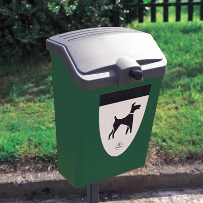 Fido 25 - Avfallsbeholder på 25l for hundeavfall, i plast