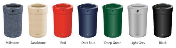 Envoy - Innendørs avfallsbeholder i plast, 90l og 110l, i flere farger