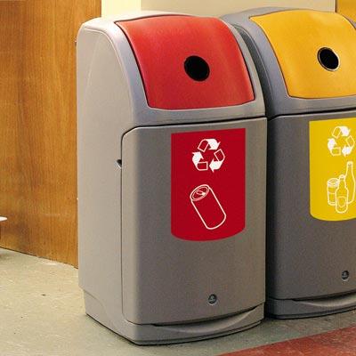 Nexus r140 avfallsbeholder for kildesortering av drikkebeger