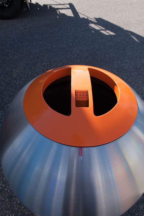 Bubble - Avfallsbeholder med stor kapasitet 360l og 600l, i metall. Stor åpning