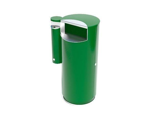 City 100 Combi - Avfallsbeholder på 100l med askebeger