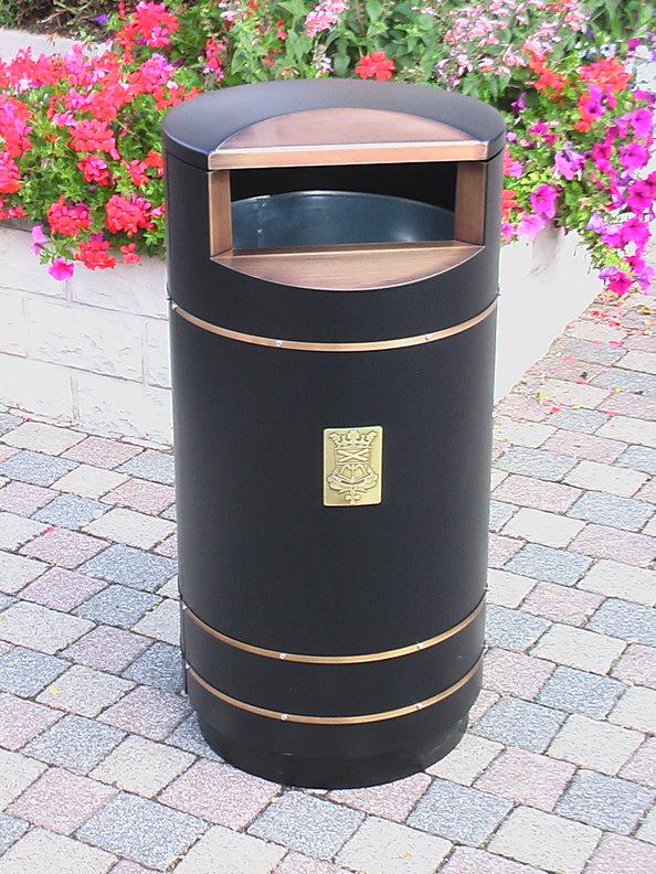 City 140 - Avfallsbeholder på 140l, i sort og kobber