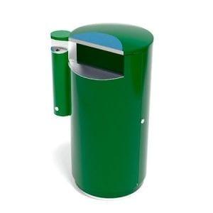 City 140 Combi - Avfallsbeholder på 140l med askebeger
