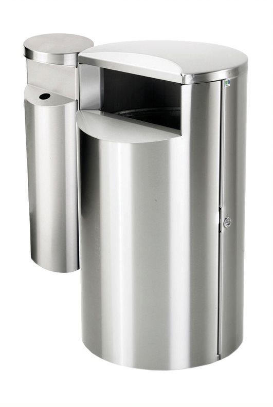 City 60 Combi - Avfallsbeholder på 60l med askebeger